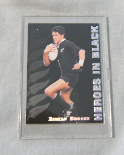 1995 NZ ALL BLACKS RUGBY UNION CARD - H2 ZINZAN BROOKERugby Union Cards - 2969