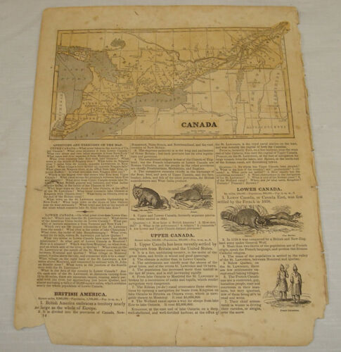 1844 COLOR MAP of CANADA///Morse