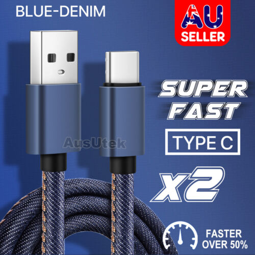 2X FAST CHARGE USB Type C Cable For Samsung S8 S9 S10 S20 Ultra Plus Note 10 5G