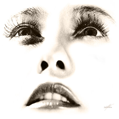 """Visage Collection - Barbara Stanwyck  - The Eyes -  24"""" x 24"""" Canvas Art Poster"""