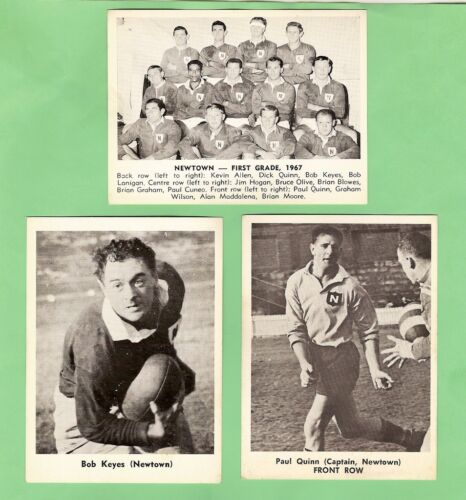 1967 Mirror Newspaper Rugby League Cards - Newtown