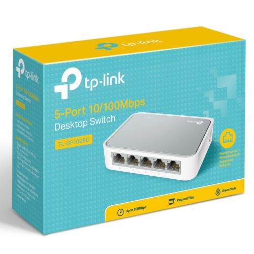 TP-Link 5 Port Network Desktop Switch TL-SF1005D 10/100Mbps Home Ethernet Hub