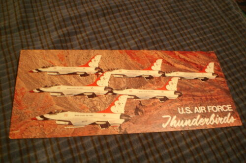 Vintage U.S. Air Force Thunderbirds Picture Autograph Card SIGNED ON BACKAir Force - 66528