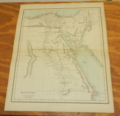 1853 Antique COLOR Map, Ancient Geography// EGYPT //Findlay