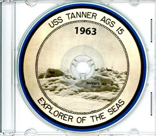USS Tanner AGS 15 Arctic Circle CRUISE BOOK Log 1963  CDReproductions - 156443