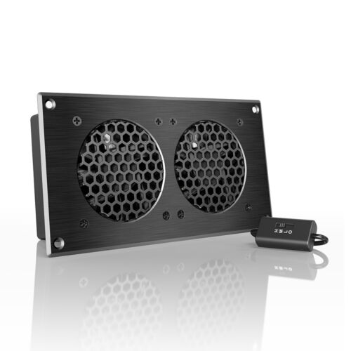 """AIRPLATE S5, Quiet Cabinet Fan 8"""" for Home Theater AV Amplifier Media Cooling"""