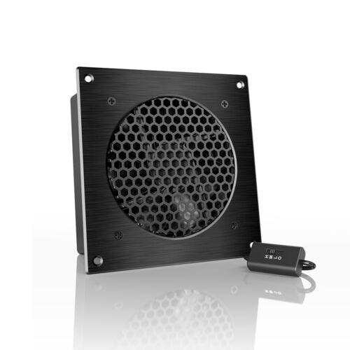 """AIRPLATE S3, Quiet Cabinet Fan 6"""" for Home Theater AV Amplifier Media Cooling"""