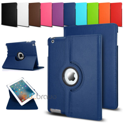 Smart 360 Rotate Leather Case Cover For Apple iPad 2 3 4 5 6 Air 1 2 3 Mini Pro