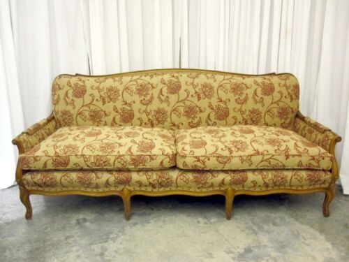 Beautiful French Style Sofa w Down Cushions Pro Reupholstered Mint Cond MUST SEE