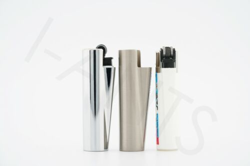 1 New Refillable Clipper Mini Size Lighter With Metallic Removable Cover