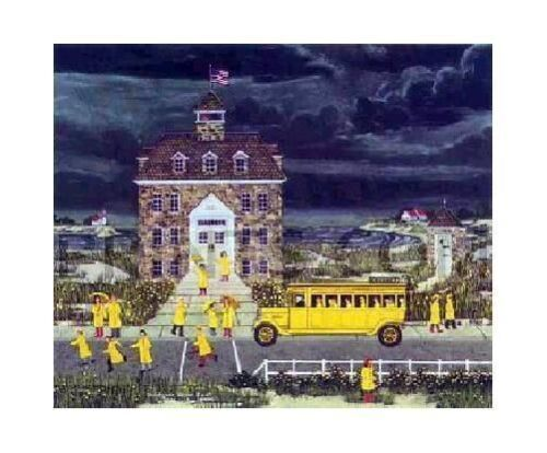 Wooster Scott, Down East Down Pour, Serigraph signed,numbered, certificate