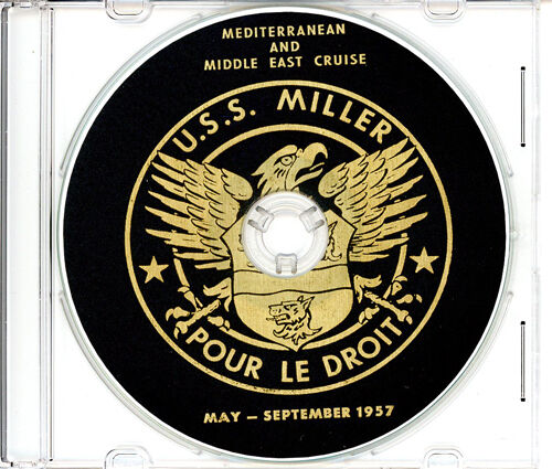 USS Miller DD 535 1957 Med and Middle East Cruise Book on CDReproductions - 156443
