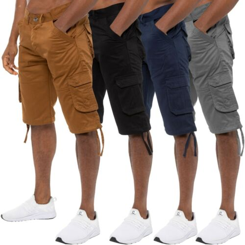 Enzo Mens Cargo Shorts Combat Army Work Casual Chino Knee Length Summer Pants