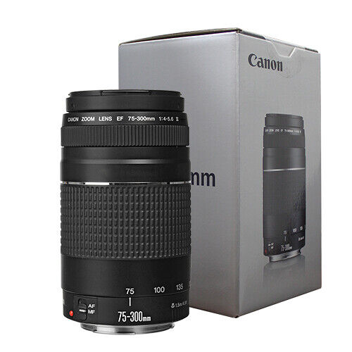 Canon EF 75-300mm f4-5.6 III Telephoto Zoom Lens for Canon SLR Cameras