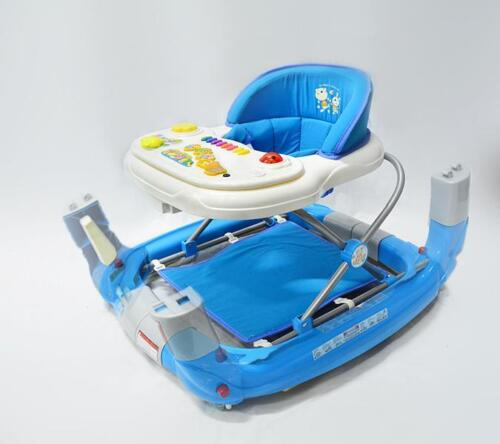 Br New Sturdy Piano Baby Walker Rocker 4in1 Toys Musical Play Centre Gift Blue