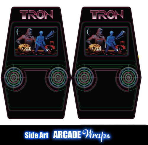 TRON V2 Arcade Side Artwork Panel Stickers Graphics / Laminated All Sizes