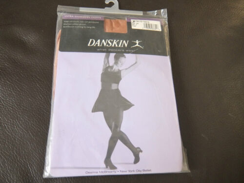 Toast Ultra shimmery Danskin footed dance tights - style  1331 and 331 all sizes