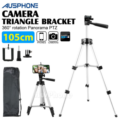 Universal Telescopic Camera Tripod Stand Holder Mount For Phone iPhone Samsung