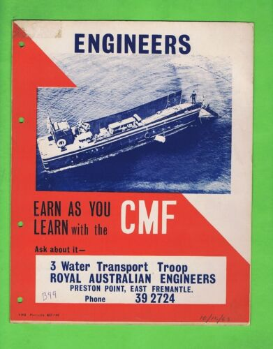 #T34.  1963  CMF  ENGINEERS CARDBOARD  RECRUITING POSTER1961 - 1975 (Vietnam) - 36060