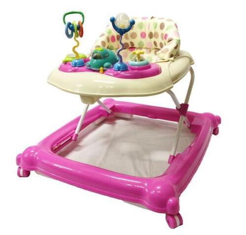 Br New Sturdy Musical Beautiful Baby Walker Activity Play Centre and Toys Pink <br/> Get another 3% Off use Code PICKLE
