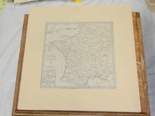 1799 Antique Map of FRANCE  ///  Matted