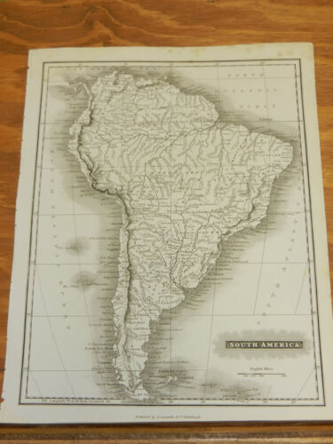 1817 Antique Map/SOUTH AMERICA