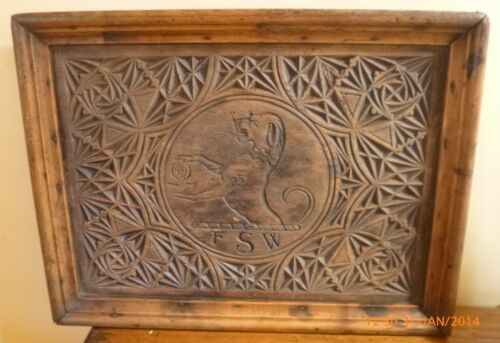 ANTIQUE WOOD CARVING PICTURE