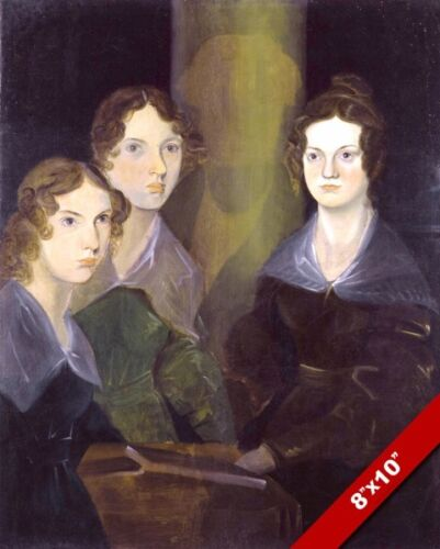 THE BRONTE SISTERS ENGLISH POETS AUTHORS PAINTING ART REAL CANVAS PRINT
