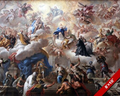 TRIUMPH OF THE IMMACULATE PAINTING EPIC CLASSIC CHRISTIAN ART REAL CANVAS PRINT