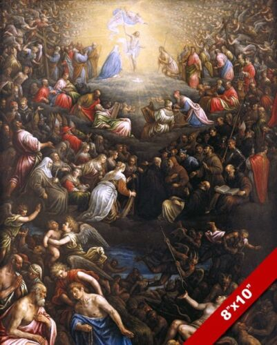 THE LAST FINAL JUDGEMENT SECOND COMING PAINTING CHRISTIAN BIBLE ART CANVAS PRINT