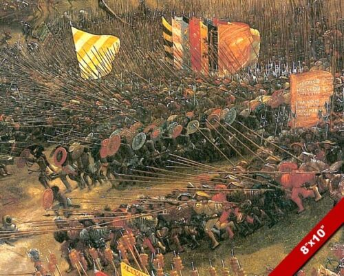 BATTLE OF ISSUS TURKEY ALEXANDER THE GREAT PAINTING WAR ART REAL CANVAS PRINT