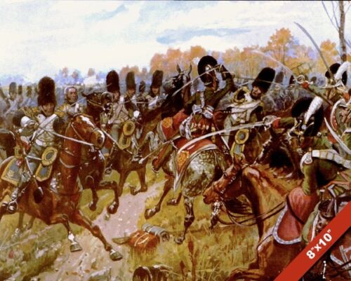 CAVALRY CHARGE BATTLE OF HANAU PAINTING NAPOLEON FRENCH WAR ART CANVASPRINT