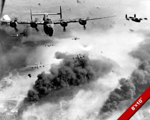 B-24 UNITED STATES BOMBER PLANES WORLD WAR 2 WWII II PHOTO REAL CANVAS ART PRINT