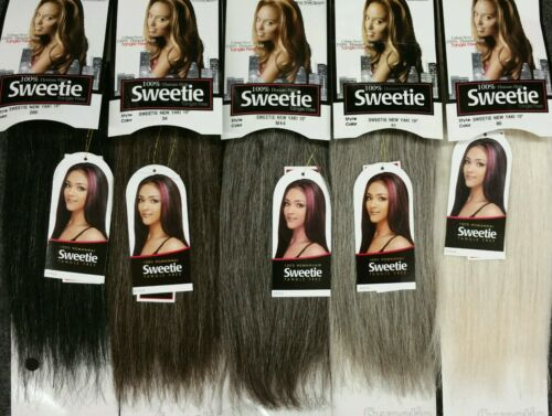 "100% Human Hair New Yaki Weave 8~12""Tangle Free Mixed Gray  34 44 51 56 60 280"