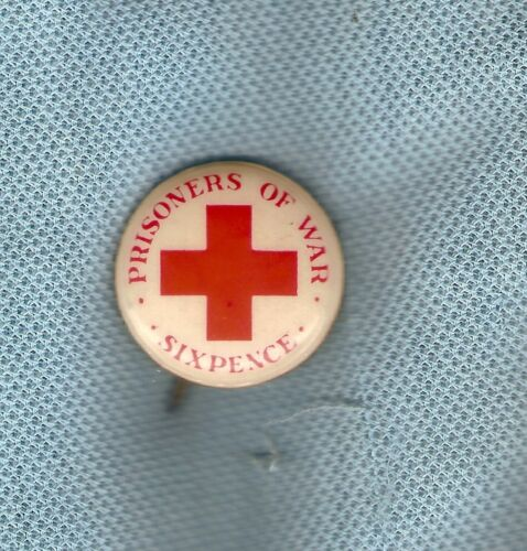 #D170. AUSTRALIAN PRISONERS OF WAR APPEAL TIN   BADGE, SIXPENCE1939 - 1945 (WWII) - 13977
