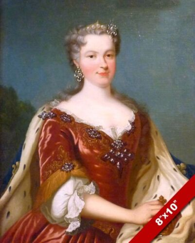 QUEEN MARIE OF FRANCE PORTRAIT PAINTING FRENCH HISTORY ART REAL CANVAS PRINT