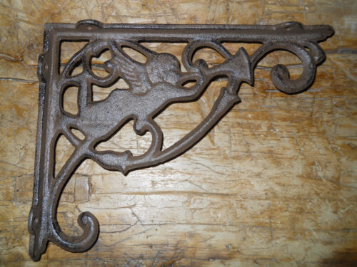 2 Cast Iron Antique Style ANGEL Brackets, Garden Braces Fairy Shelf Bracket