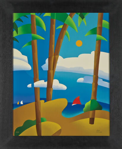 René Lalonde - The Tide is High, Serigraph on Gesso Board, Framed