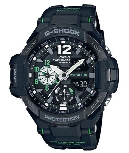 Casio G-Shock * G-Aviation GravityMaster GA1100-1A3 Black & Green COD PayPal <br/> SPECIAL OFFER! Nationwide COD Free Ship Meet Up PayPal