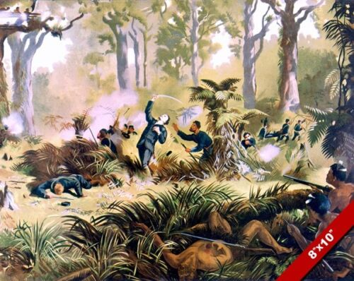 DEATH OF VON TEMPSKY PAINTING NEW ZEALAND WAR HISTORY ART REAL CANVAS PRINT