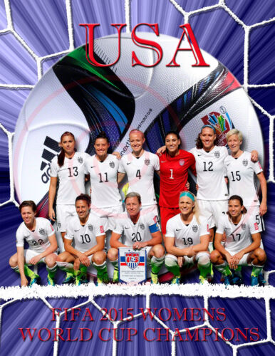 Women's World Cup Soccer /USATeam Poster/2015/FIFA..Fantastic!/17X22 inch