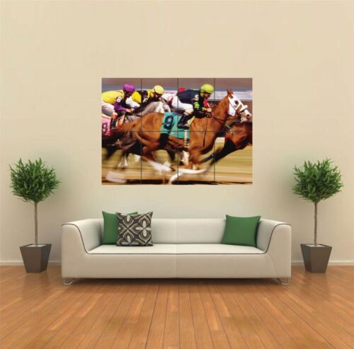 HORSE RACING NEW GIANT POSTER WALL ART PRINT PICTURE G450