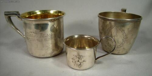Group of 3 American Sterling Silver Child's/ Babies Cup