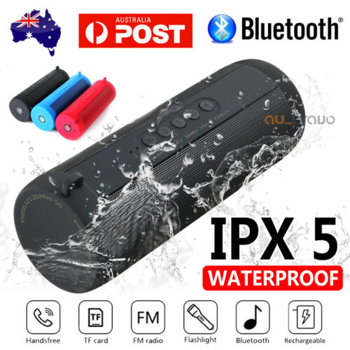 Portable Wireless Bluetooth Stereo Music Waterproof Speaker for iPhone Samsung