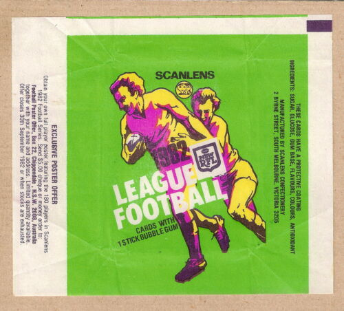 #d194.  1982   Scanlens Rugby League Card Wax Wrapper