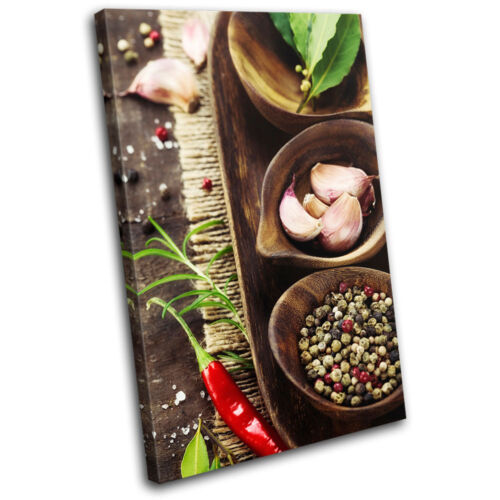 Spices Restaurant Food Kitchen SINGLE CANVAS WALL ART Picture Print VA