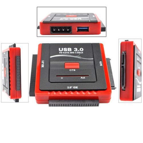 """USB 3.0 to SATA IDE 2.5"""" 3.5"""" External HDD Drive Converter Adapter Connector AU"""