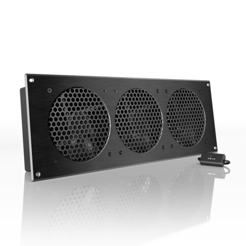 """AIRPLATE S9, Quiet Cabinet Fan 18"""" for Home Theater AV Amplifier Media Cooling"""