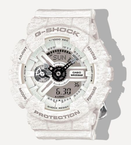 Casio G-Shock *GMAS110HT-7A S Series Gshock Heathered White Watch COD PayPal <br/> PRICE DROP SALE Nationwide COD Meet Up Free Ship PayPal