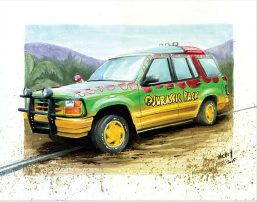 JURASSIC PARK EXPLORER Art Print By Billy Tackett